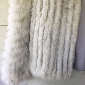 Saga Furs Jackets & Coats - Saga Fox Womens Genuine Blue Fox Fur Jacket Size M
